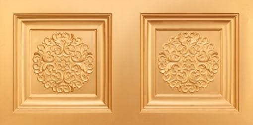 8268 Faux Tin Ceiling Tile - Gold