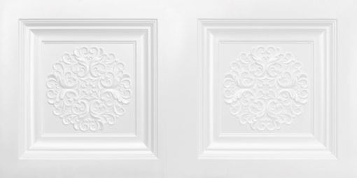 8268 Faux Tin Ceiling Tile - White Pearl