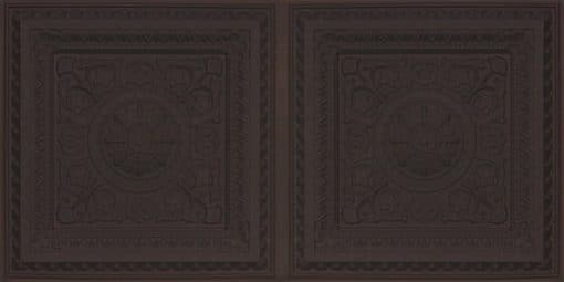 8223 Faux Tin Ceiling Tile - Black Matte
