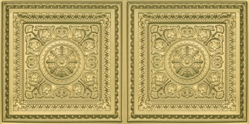 8223 Faux Tin Ceiling Tile - Brass