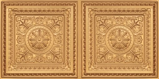 8223 Faux Tin Ceiling Tile - Gold