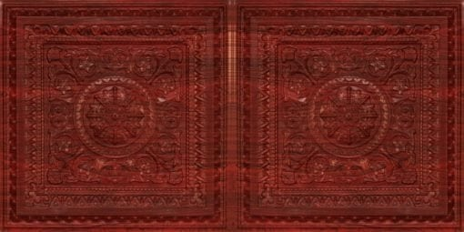 8223 Faux Tin Ceiling Tile - Rosewood