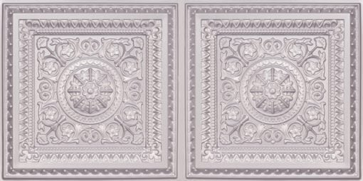 8223 Faux Tin Ceiling Tile - Silver