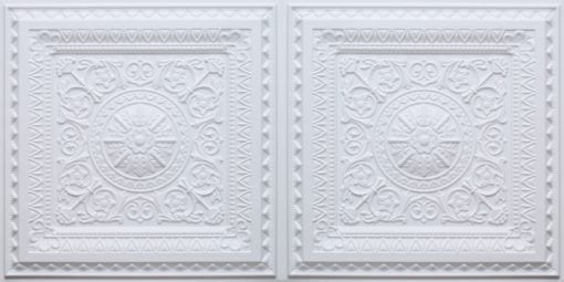 8223 Faux Tin Ceiling Tile - White Matte