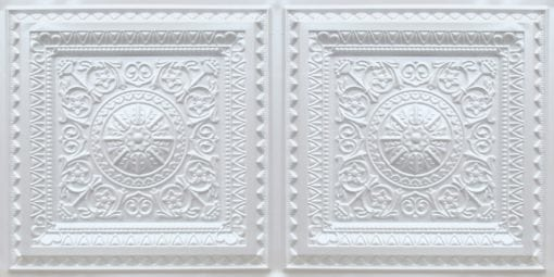 8223 Faux Tin Ceiling Tile - White Pearl