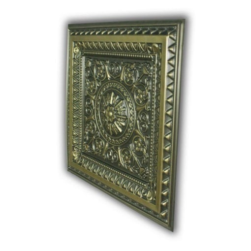 8223 Faux Tin Ceiling Tile - Antique Brass