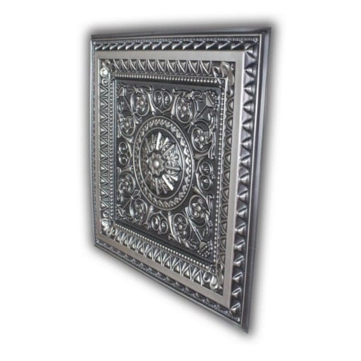 8223 Faux Tin Ceiling Tile - Antique Silver