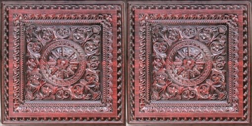 8223 Faux Tin Ceiling Tile - Antique Rosewood