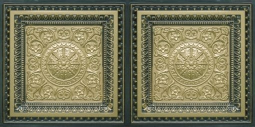 8223 Faux Tin Ceiling Tile - Brass-Antique Brass