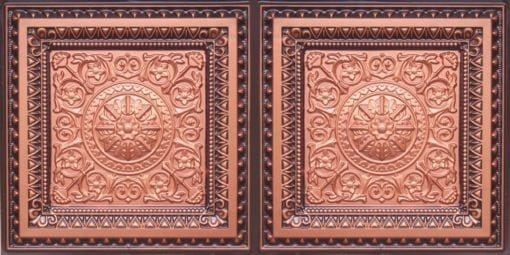 8223 Faux Tin Ceiling Tile - Copper-Antique Coper