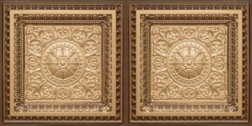 8223 Faux Tin Ceiling Tile - Gold-Antique Gold