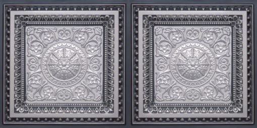 8223 Faux Tin Ceiling Tile - Silver-Antique Silver