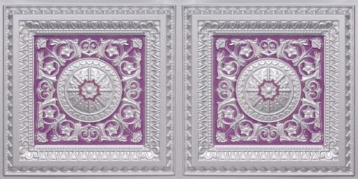 8223 Faux Tin Ceiling Tile - Silver-Purple