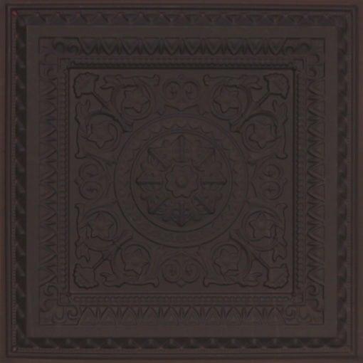 223 Faux Tin Ceiling Tile - Black Matte