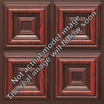 FT802 Faux Tin Ceiling Tile - Antique Rosewood