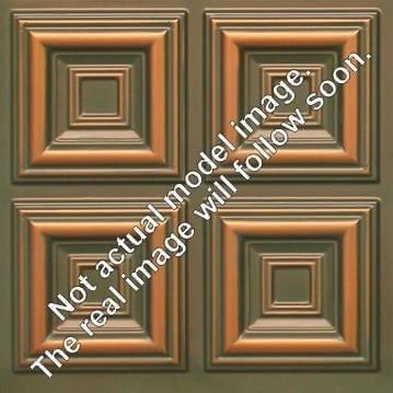 FT802 Faux Tin Ceiling Tile - Patina Copper