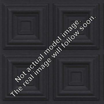 FT802 Faux Tin Ceiling Tile - Black Matte