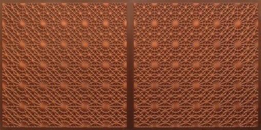 FT803 Faux Tin Ceiling Tile - Antique Copper