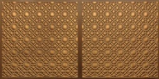 FT803 Faux Tin Ceiling Tile - Antique Gold