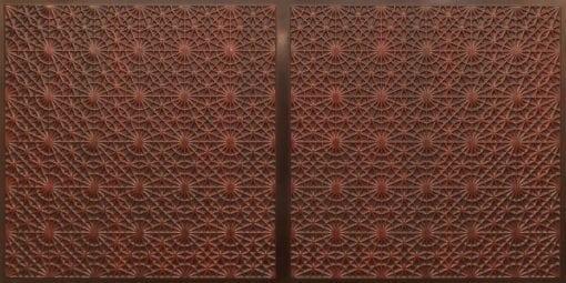 FT803 Faux Tin Ceiling Tile - Antique Rosewood