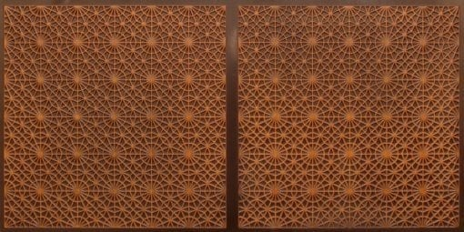 FT803 Faux Tin Ceiling Tile - Antique Teakwood