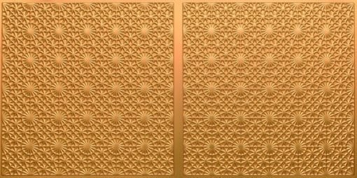 FT803 Faux Tin Ceiling Tile - Gold
