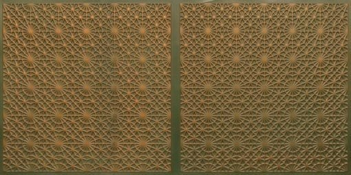 FT803 Faux Tin Ceiling Tile - Patina Copper