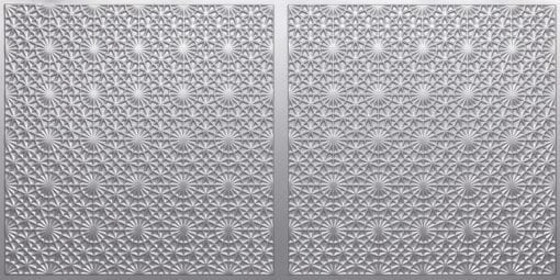 FT803 Faux Tin Ceiling Tile - Silver