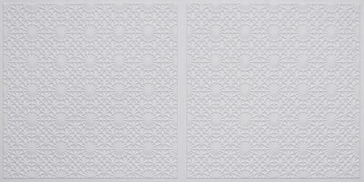 FT803 Faux Tin Ceiling Tile - White Matte