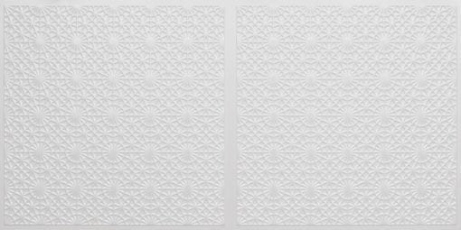 FT803 Faux Tin Ceiling Tile - White Pearl