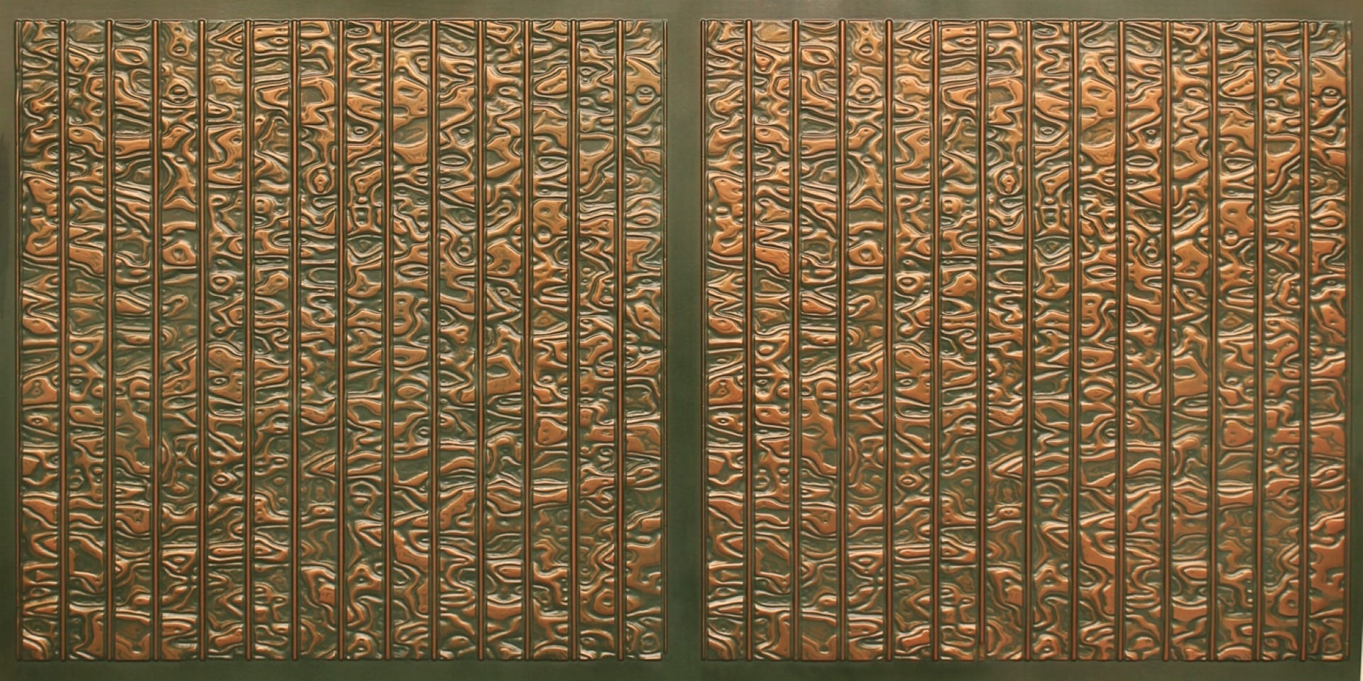 FT804 Faux Tin Ceiling Tile - Patina Copper