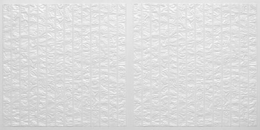 FT804 Faux Tin Ceiling Tile - White Pearl