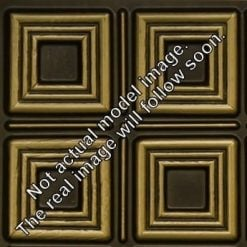 FT804 Faux Tin Ceiling Tile - Antique Brass