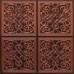 245 Faux Tin Ceiling Tile - Antique Copper