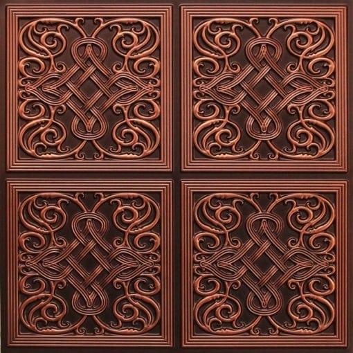 245 Faux Tin Ceiling Tile - Antique Copper
