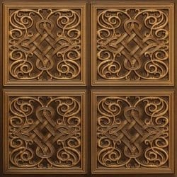 245 Faux Tin Ceiling Tile - Antique Gold