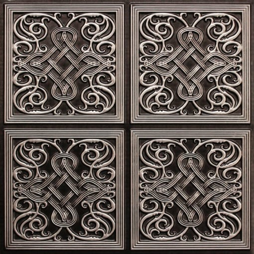 245 Faux Tin Ceiling Tile - Antique Silver