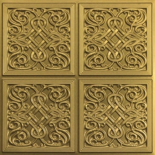245 Faux Tin Ceiling Tile - Brass