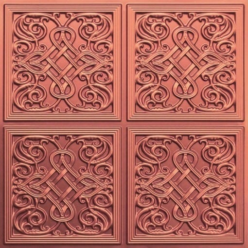 245 Faux Tin Ceiling Tile - Copper
