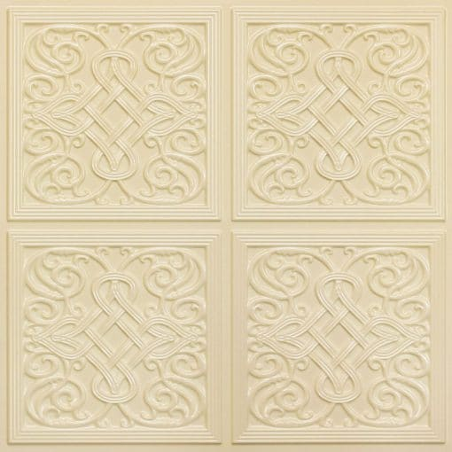 245 Faux Tin Ceiling Tile - Cream Pearl
