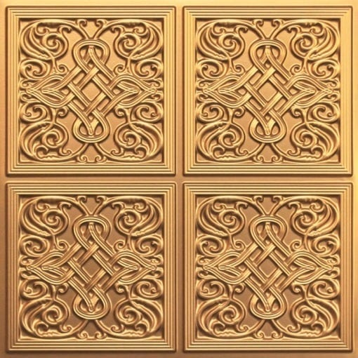 245 Faux Tin Ceiling Tile - Gold