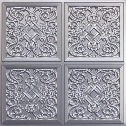 245 Faux Tin Ceiling Tile - Silver