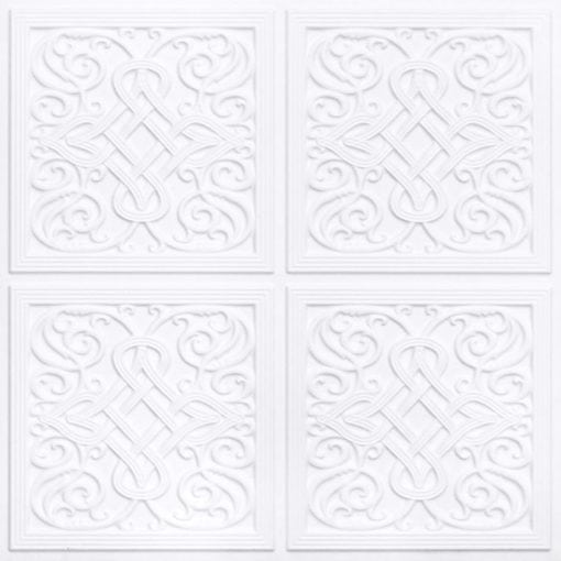 245 Faux Tin Ceiling Tile - White Matte