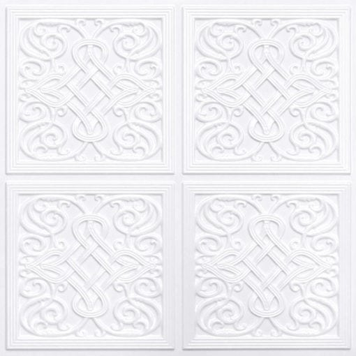 245 Faux Tin Ceiling Tile - White Pearl