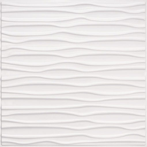 265 Faux Tin Ceiling Tile - White Pearl