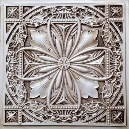 TD10 Faux Tin Ceiling Tile - Talissa Signature Collection - Antique White