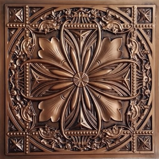 Td10 Faux Tin Ceiling Tile Talissa Signature Collection Aged Copper