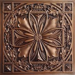 TD10 Faux Tin Ceiling Tile - Talissa Signature Collection - Aged Copper