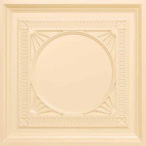 266 Faux Tin Ceiling Tile - coffered - Cream Pearl