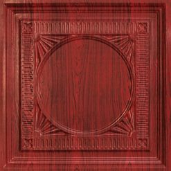 266 Faux Tin Ceiling Tile - coffered - Rosewood
